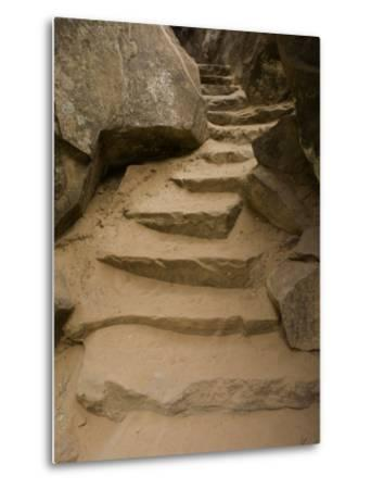 Stone Steps on Trail, Zion National Park, Utah, Monument Valley, USA-John Burcham-Metal Print