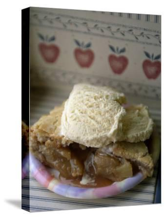 Apple Pie A' La Mode, or with Ice Cream on Top-Michael Melford-Stretched Canvas Print