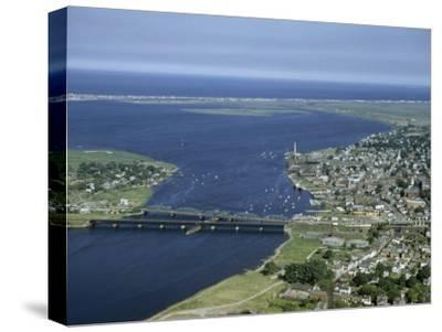 Aerial View of the Mouth of Merrimack River-Jack Fletcher-Stretched Canvas Print