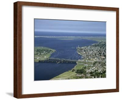 Aerial View of the Mouth of Merrimack River-Jack Fletcher-Framed Photographic Print