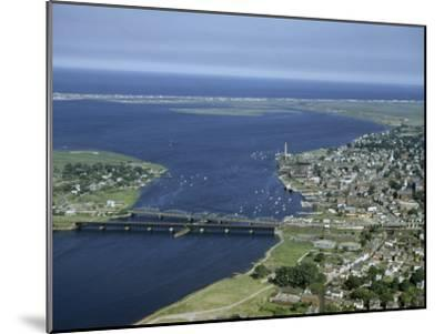 Aerial View of the Mouth of Merrimack River-Jack Fletcher-Mounted Photographic Print
