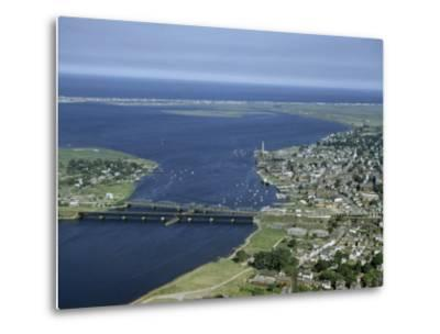 Aerial View of the Mouth of Merrimack River-Jack Fletcher-Metal Print