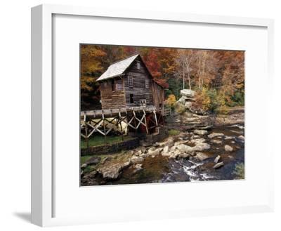 Fully Operational Grist Mill Sells its Products to Park Visitors-Raymond Gehman-Framed Photographic Print