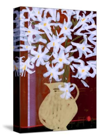 Lilies in Vase--Stretched Canvas Print
