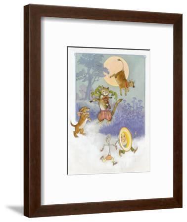 Hey Diddle Diddle Mother Goose--Framed Art Print