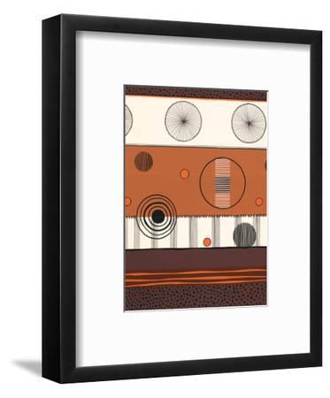 Brown and Orange Circles--Framed Art Print