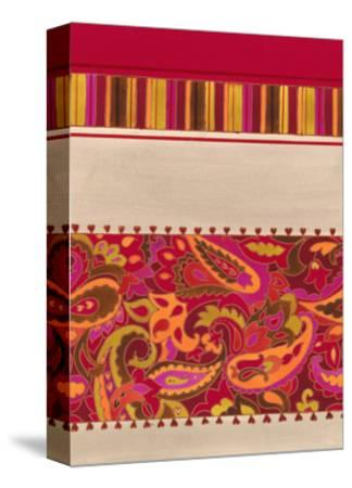 Paisley and Stripe Pattern--Stretched Canvas Print