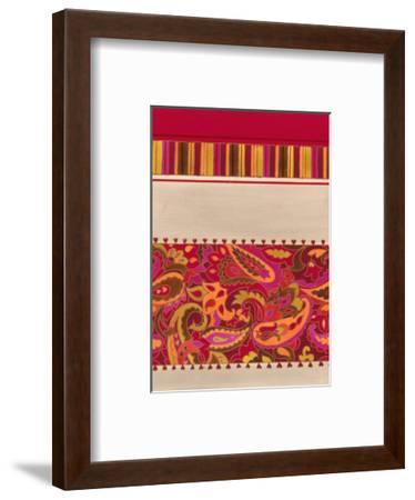 Paisley and Stripe Pattern--Framed Art Print