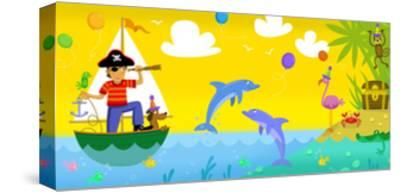 Pirate Treasure--Stretched Canvas Print