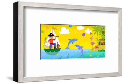 Pirate Treasure--Framed Art Print