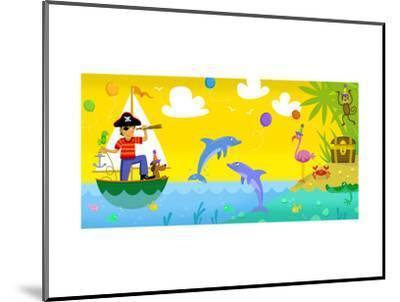 Pirate Treasure--Mounted Art Print