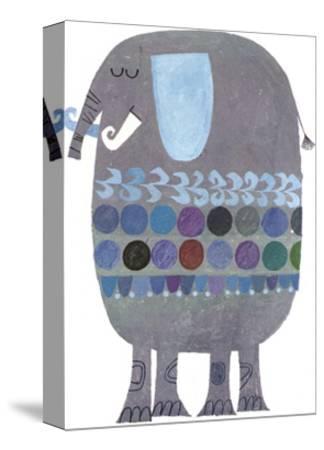 Retro Elephant--Stretched Canvas Print