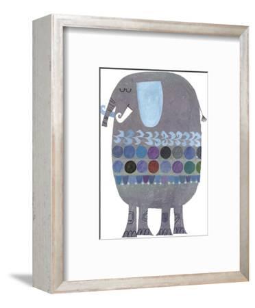 Retro Elephant--Framed Art Print