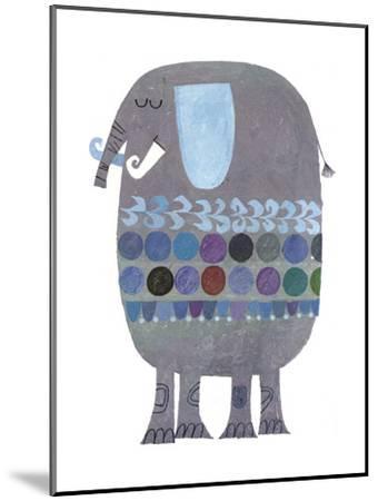 Retro Elephant--Mounted Art Print