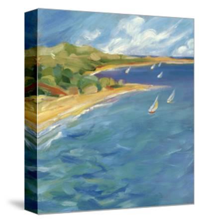 Sailboats Near the Coast--Stretched Canvas Print