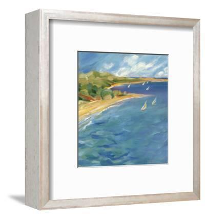 Sailboats Near the Coast--Framed Art Print