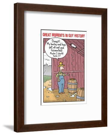 Guy History: Beer--Framed Art Print