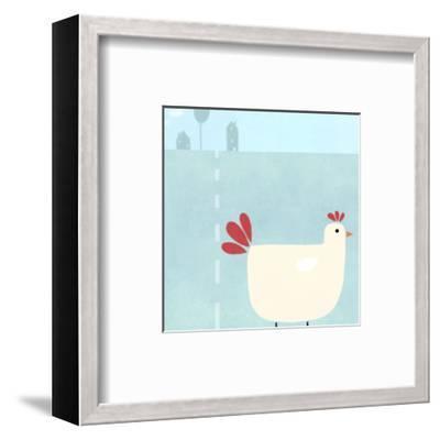Chick on Farm--Framed Art Print