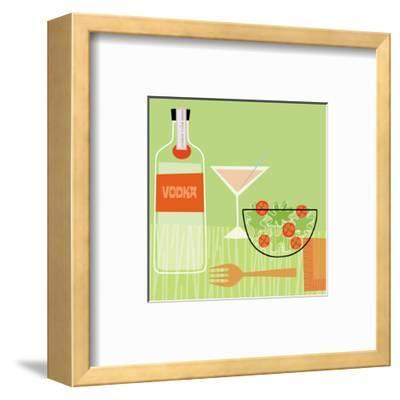 Vodka and Salad--Framed Art Print