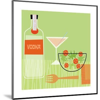 Vodka and Salad--Mounted Art Print