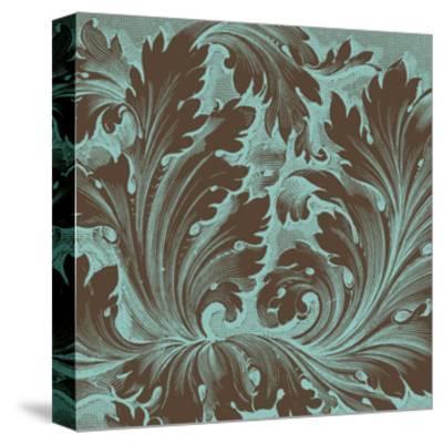 Azure Acanthus IV-Vision Studio-Stretched Canvas Print