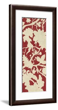 Linen Silhouette on Red I-Chariklia Zarris-Framed Art Print