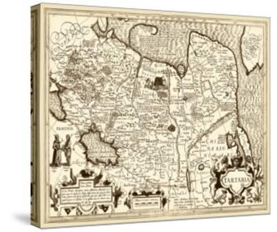 Antiquarian Map IV--Stretched Canvas Print