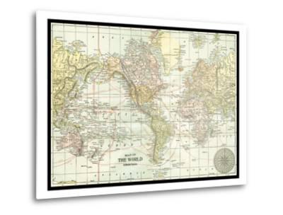 World Map--Metal Print