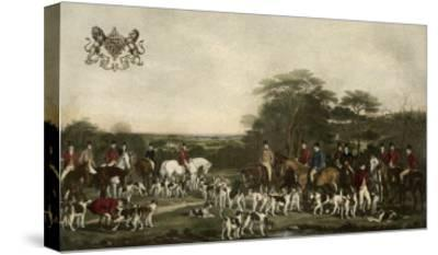 Sir Richard Sutton and the Quorn Hounds-Sir Francis Grant-Stretched Canvas Print
