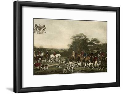 Sir Richard Sutton and the Quorn Hounds-Sir Francis Grant-Framed Art Print