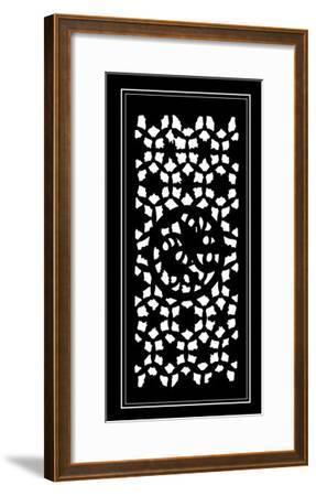 Shoji Screen in Ebony II-Vision Studio-Framed Art Print