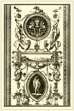 Ivory Screen II--Stretched Canvas Print