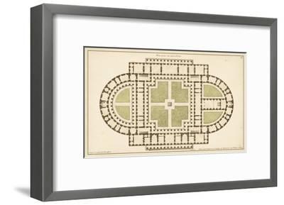 Antique Garden Plan I-Jean Deneufforge-Framed Art Print