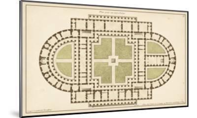 Antique Garden Plan I-Jean Deneufforge-Mounted Art Print