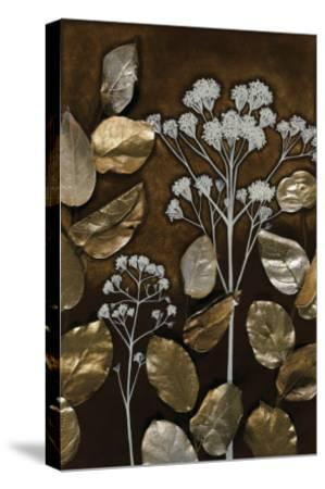 Gilded Leaf Collage I-Megan Meagher-Stretched Canvas Print