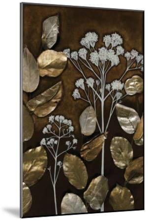Gilded Leaf Collage I-Megan Meagher-Mounted Art Print