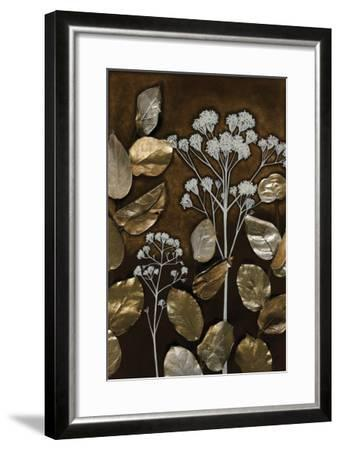 Gilded Leaf Collage I-Megan Meagher-Framed Art Print