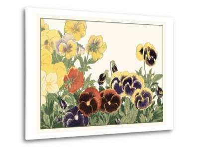 Japanese Flower Garden V-Konan Tanigami-Metal Print