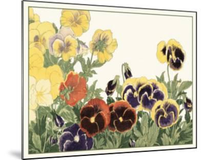 Japanese Flower Garden V-Konan Tanigami-Mounted Art Print