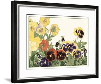 Japanese Flower Garden V-Konan Tanigami-Framed Art Print