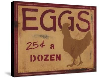 Eggs-Norman Wyatt Jr^-Stretched Canvas Print