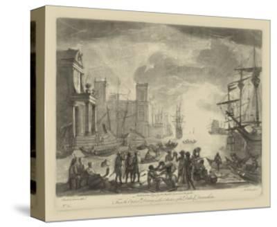 Antique Harbor I-Claude Lorraine-Stretched Canvas Print