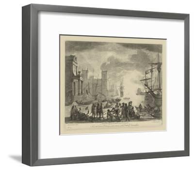 Antique Harbor I-Claude Lorraine-Framed Art Print