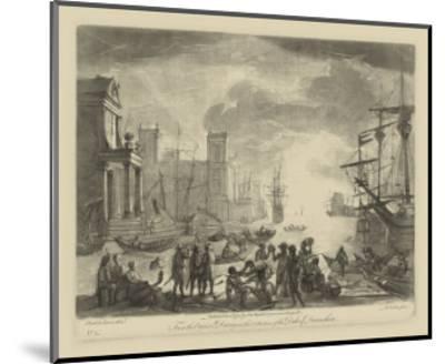 Antique Harbor I-Claude Lorraine-Mounted Art Print
