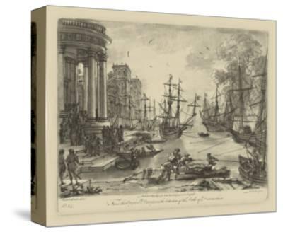 Antique Harbor V-Claude Lorraine-Stretched Canvas Print
