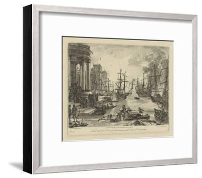 Antique Harbor V-Claude Lorraine-Framed Art Print
