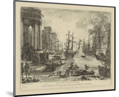Antique Harbor V-Claude Lorraine-Mounted Art Print