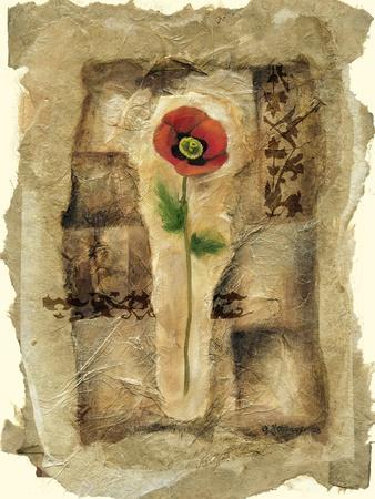 Gilded Poppy II-Jennifer Goldberger-Framed Art Print