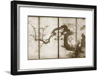 Cherry Blossoms and Pheasant--Framed Art Print