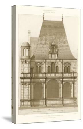 French Architecture II-Eugene Rouyer-Stretched Canvas Print